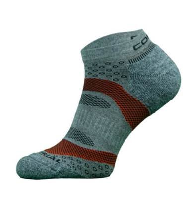 Blue and Orange Trail Run Performance Socks