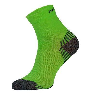 Neon Green Compression Running Socks