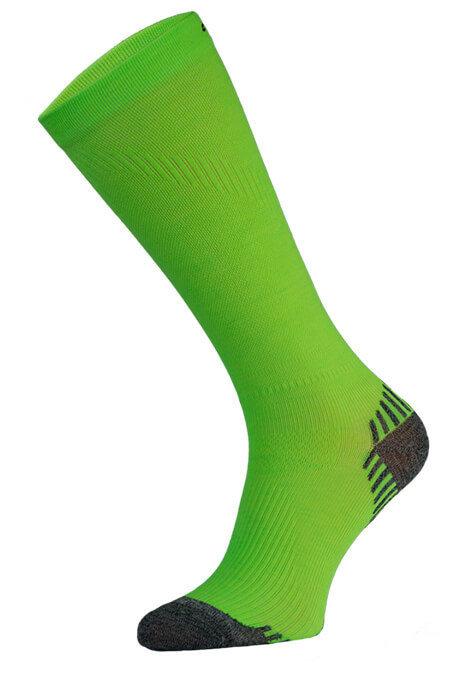 Neon Green Long Running Compression Socks