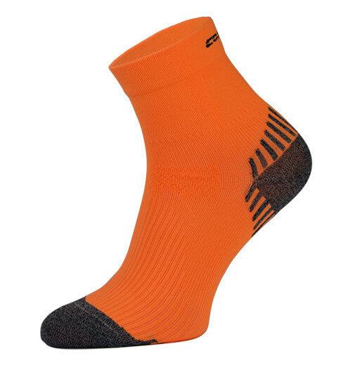 Neon Orange Compression Running Socks