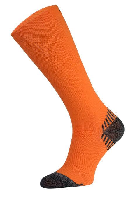 Neon Orange Long Running Compression Socks