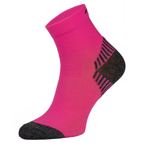 Neon Pink Compression Running Socks