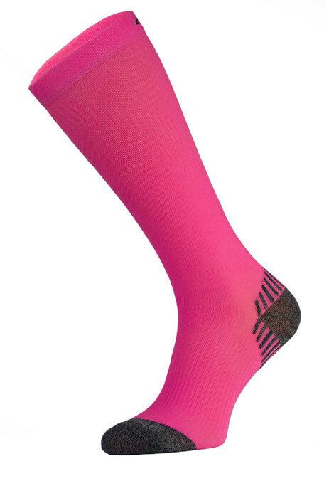 Neon Pink Long Running Compression Socks
