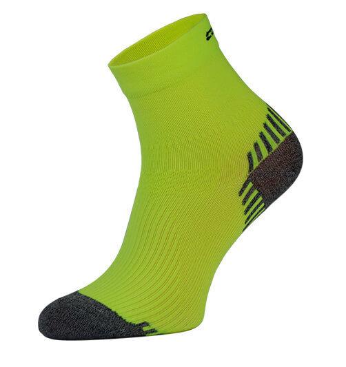 Neon Yellow Compression Running Socks