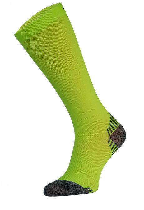 Neon Yellow Long Running Compression Socks