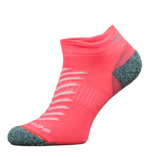 Pink Reflective Running Socks