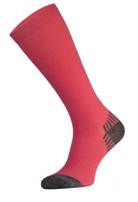Red Long Running Compression Socks