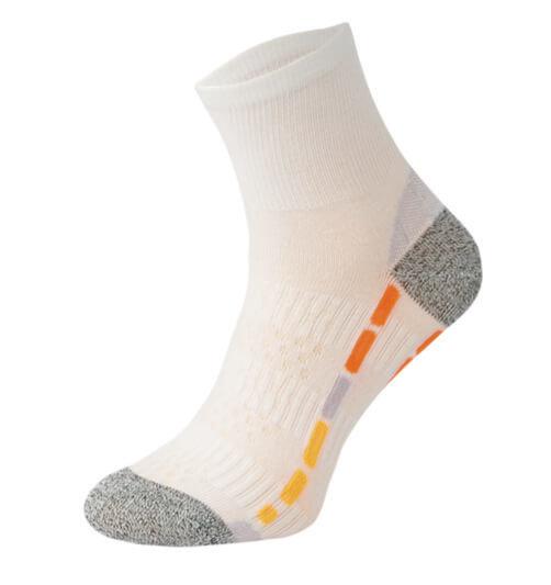 White with Orange and Grey Running Socks