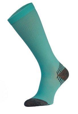 Teal Long Running Compression Socks