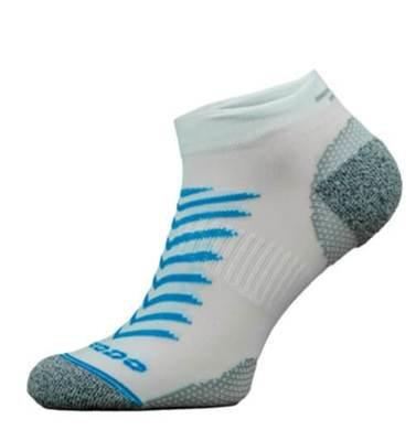 White and Blue Reflective Running Socks
