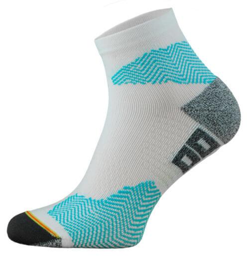 White and Blue Running Socks