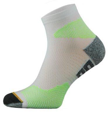 White and Green Running Socks