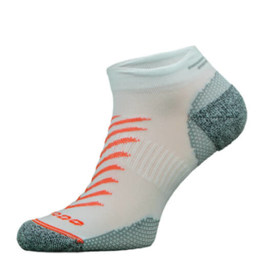 White and Pink Reflective Running Socks