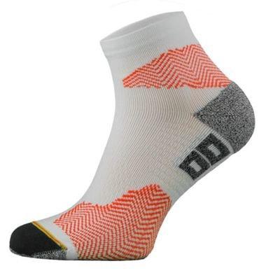 White and Red Running Socks
