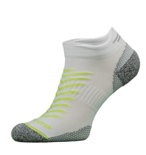 White and Yellow Reflective Running Socks
