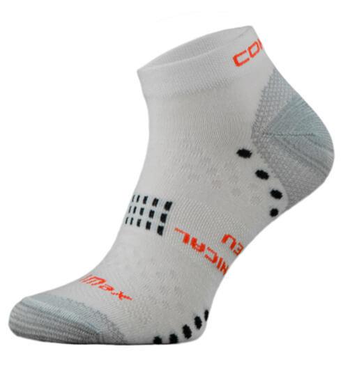 White Coolmax Performance Running Socks