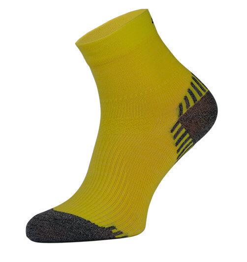 Yellow Compression Running Socks