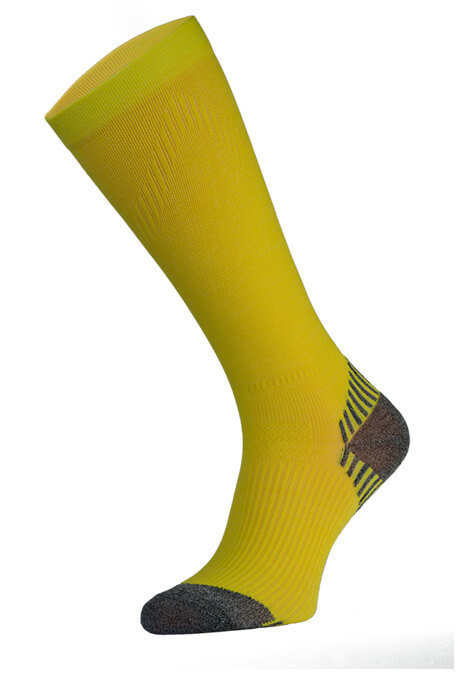 Yellow Long Running Compression Socks