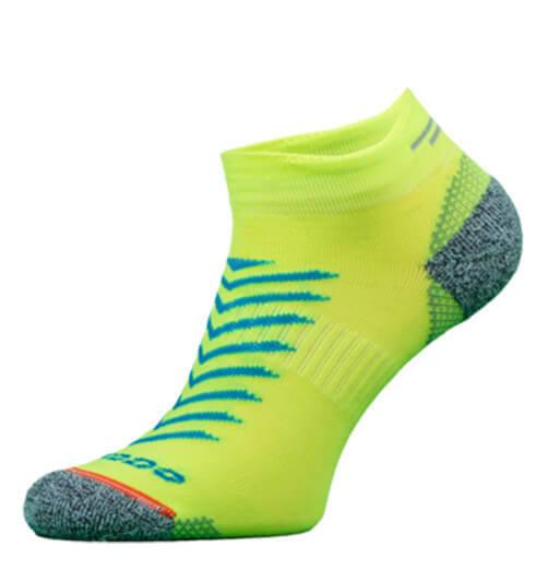 Yellow Reflective Running Socks