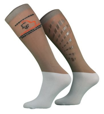 Coffee Beige and Grey Technical Riding Socks