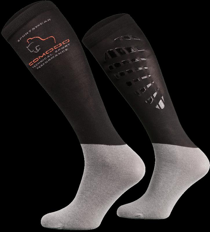 Black and Grey Technical Riding Socks