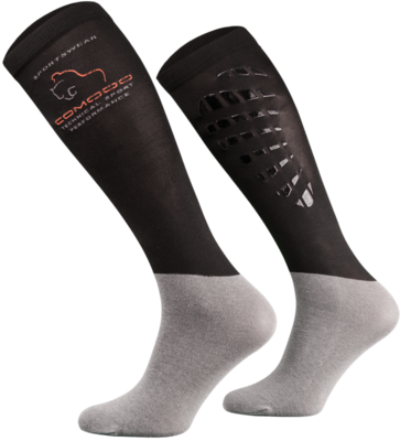 Black and Grey Technical Riding Socks