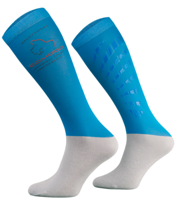Blue and Grey Technical Riding Socks