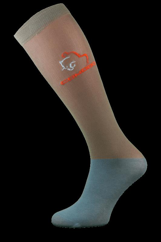 Brown and Grey Microfibre Riding Socks