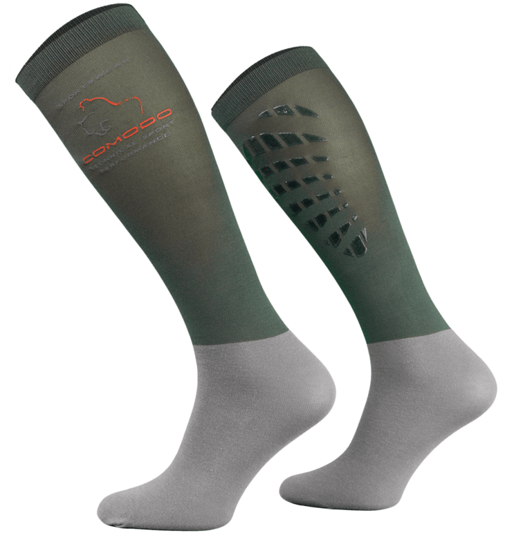 Dark and Light Grey Technical Riding Socks