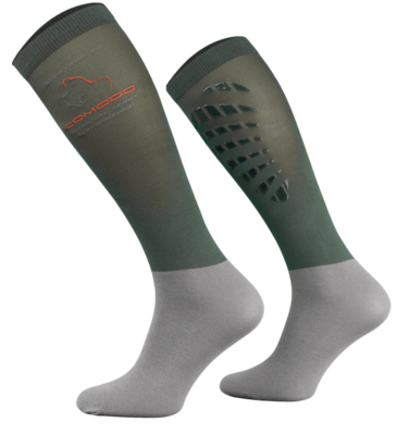 Dark and Light Grey Technical Riding Socks