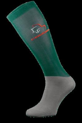 Green and Grey Microfibre Riding Socks