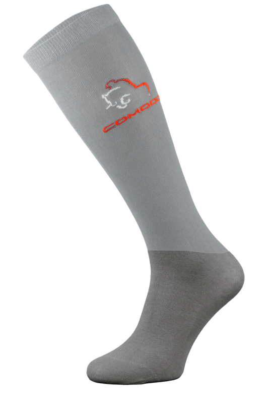 Light Grey Microfibre Riding Socks