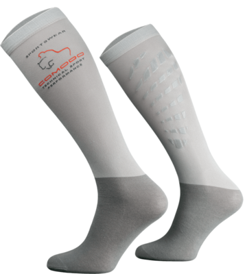 Light Grey Technical Riding Socks