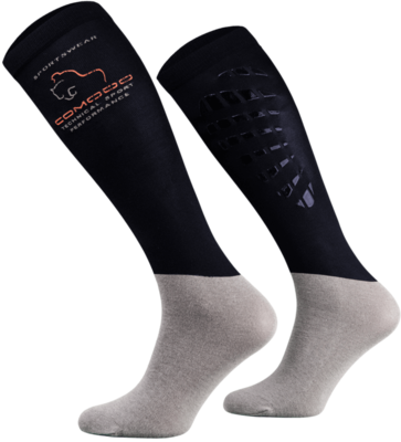 Navy and Grey Technical Riding Socks