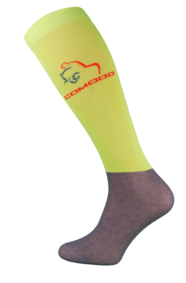 Neon Yellow and Grey Microfibre Riding Socks