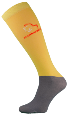 Yellow and Grey Microfibre Riding Socks