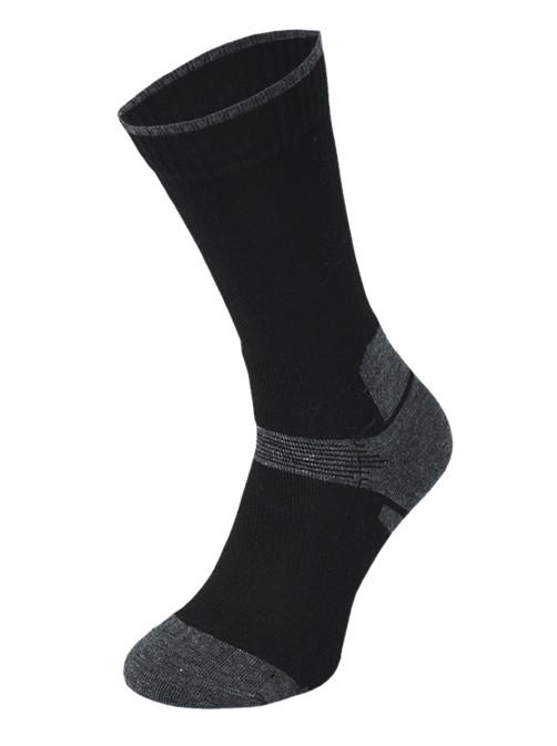 Black and Grey Midweight Trekking Socks