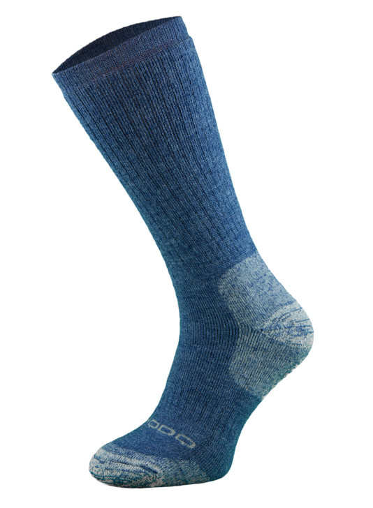 Blue Heavyweight Alpaca Merino Wool Hiking Socks