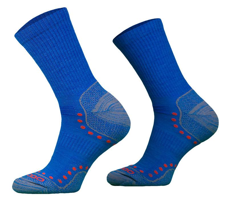 Blue Lightweight Alpaca Merino Wool Hiking Socks