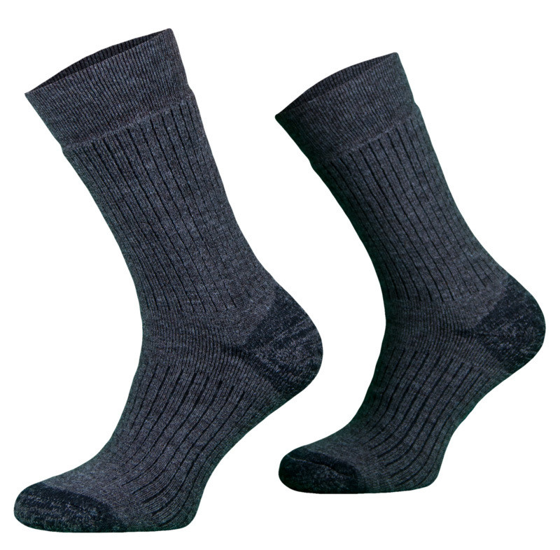 Grey Alpaca Merino Wool Hiking Socks