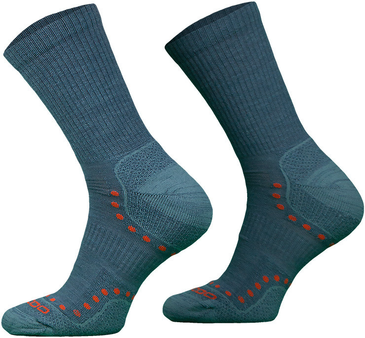 Grey Lightweight Alpaca Merino Wool Hiking Socks
