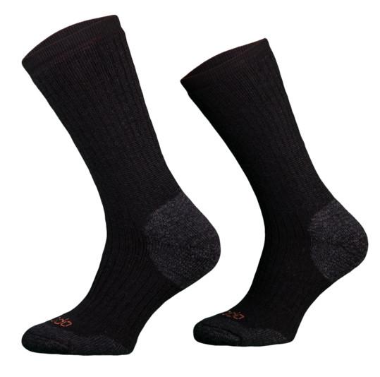 Heavy Black Merino Wool Walking Socks