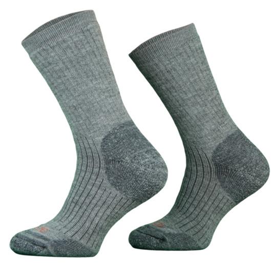 Heavy Grey Merino Wool Walking Socks