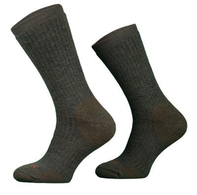 Heavy Khaki Merino Wool Walking Socks