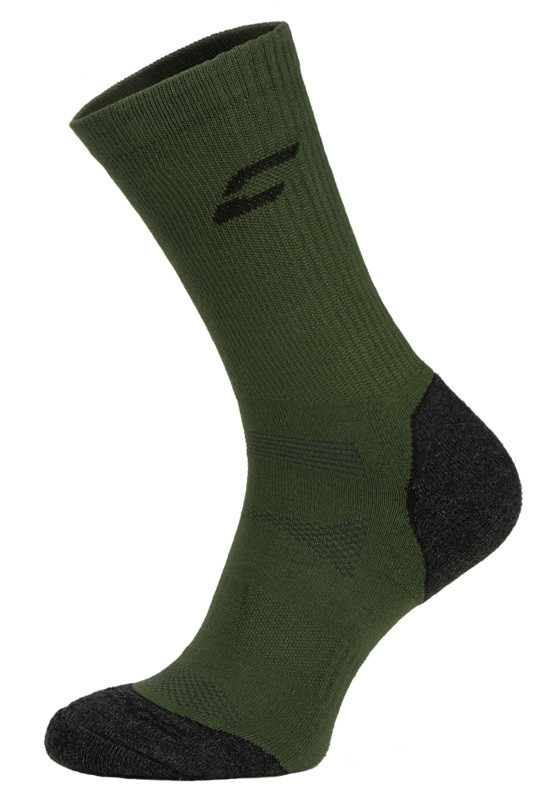 Khaki and Black Trekking Performance Socks