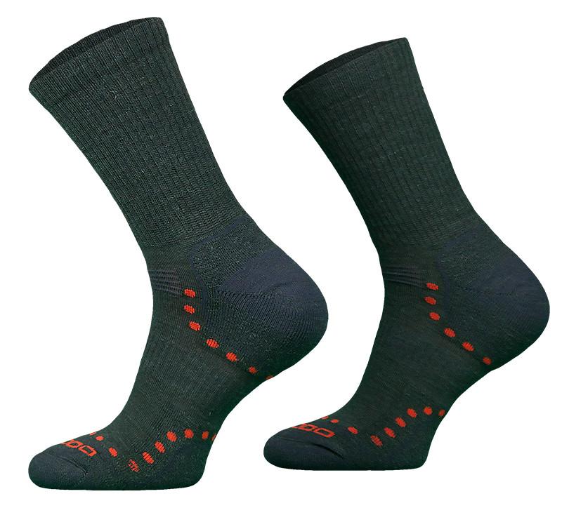 Khaki Lightweight Alpaca Merino Wool Hiking Socks