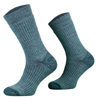 Light Blue Alpaca Merino Wool Hiking Socks
