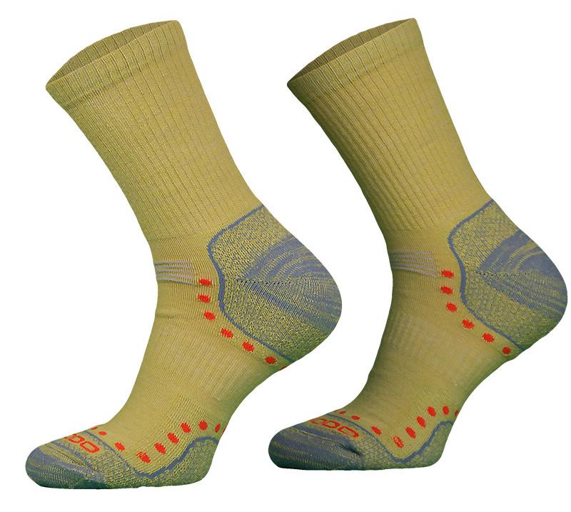 Mustard Yellow Lightweight Alpaca Merino Wool Hiking Socks