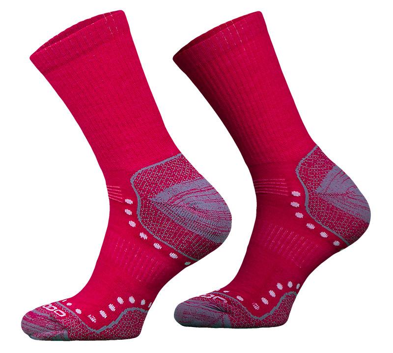 Pink Lightweight Alpaca Merino Wool Hiking Socks