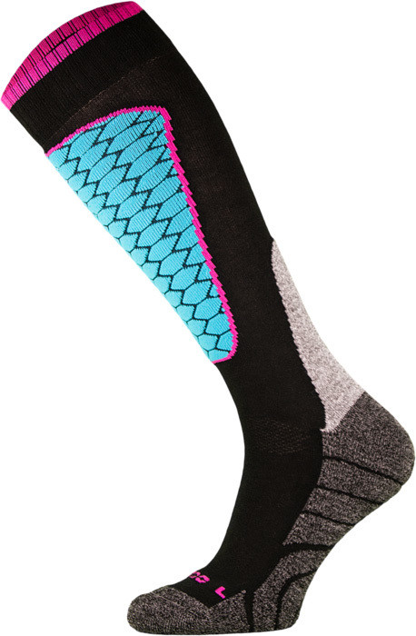 Black and Blue Performance Ski Socks